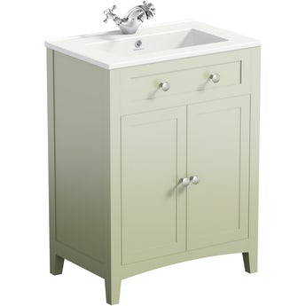 The Bath Co. Camberley sage vanity unit with basin 600mm