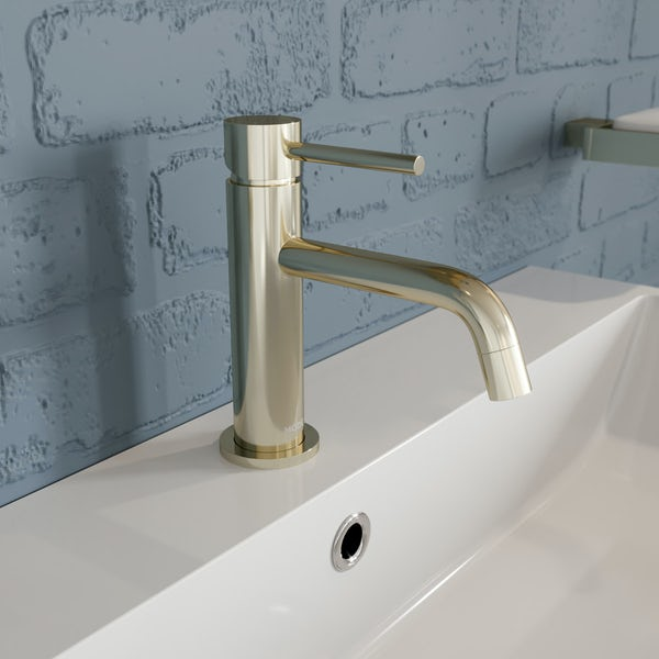 Mode Spencer round gold basin mixer tap