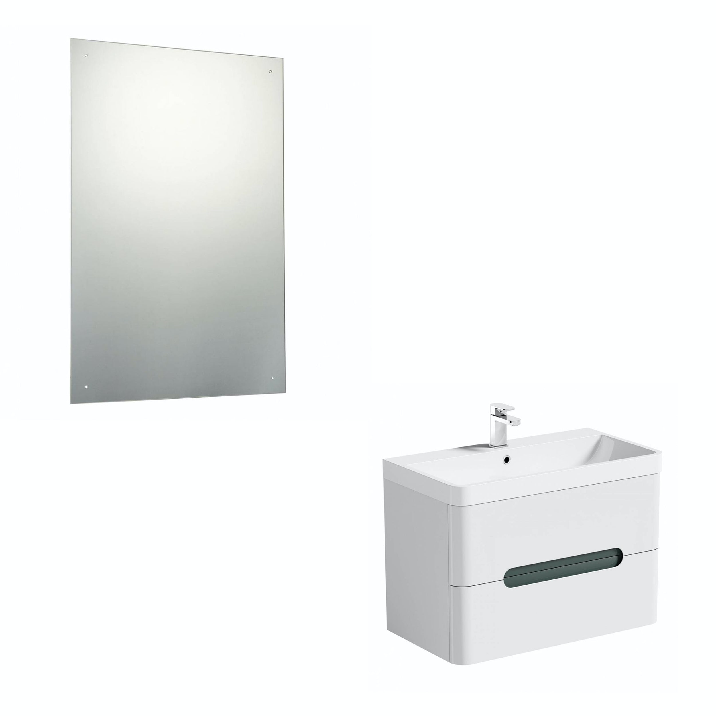 Mode Ellis slate wall hung vanity unit 800mm and mirror offer