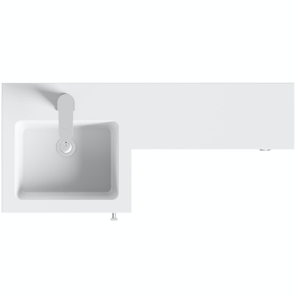 Orchard MySpace grey left handed combination unit including concealed cistern