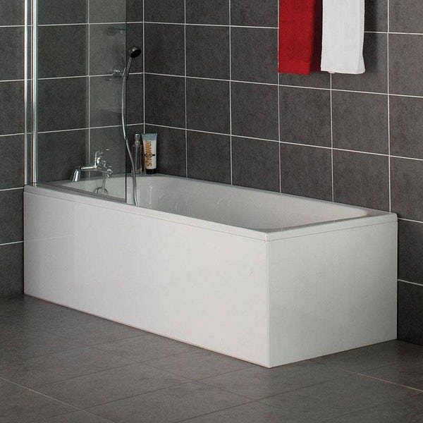 Gloss White Wooden Bath End Panel 700