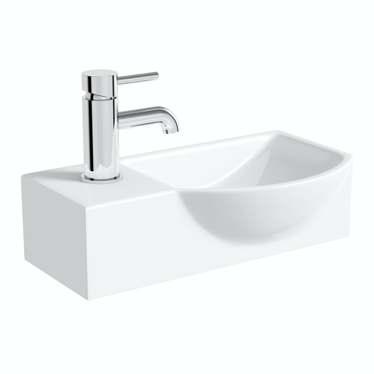 Orchard Lugano 1 tap hole basin 410mm