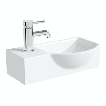 Lugano wall hung basin 405mm with waste