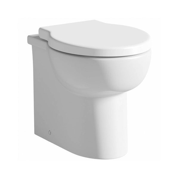 Madison back to wall toilet with soft close toilet seat and concealed cistern
