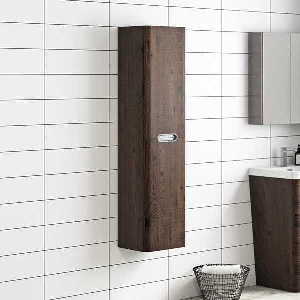 Mode Sherwood wall mounted storage in chestnut