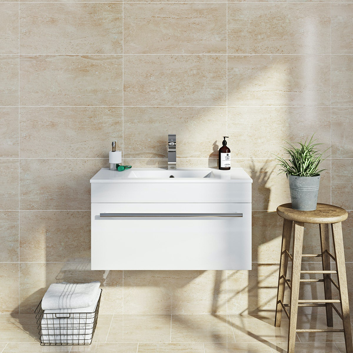 British Ceramic Tile Lux beige gloss tile 298mm x 598mm