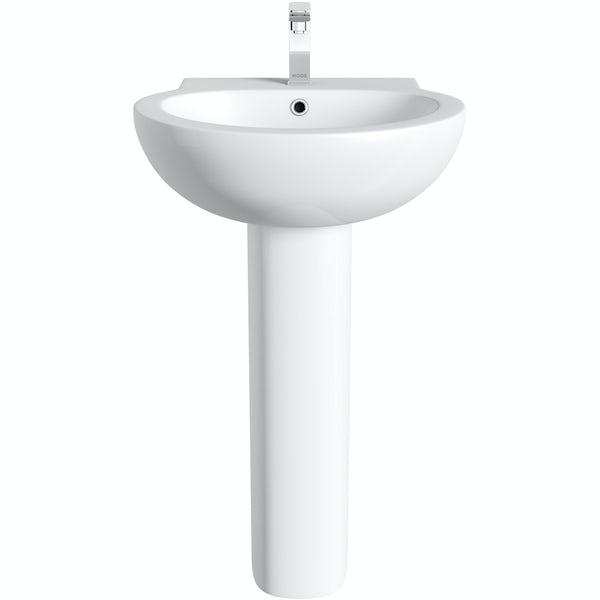 Orchard Elsdon 1 tap hole full pedestal basin 540mm