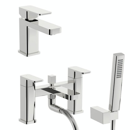Kirke Connect basin and bath shower mixer tap pack