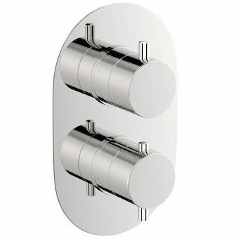 Mode Matrix oval twin thermostatic shower valve offer pack