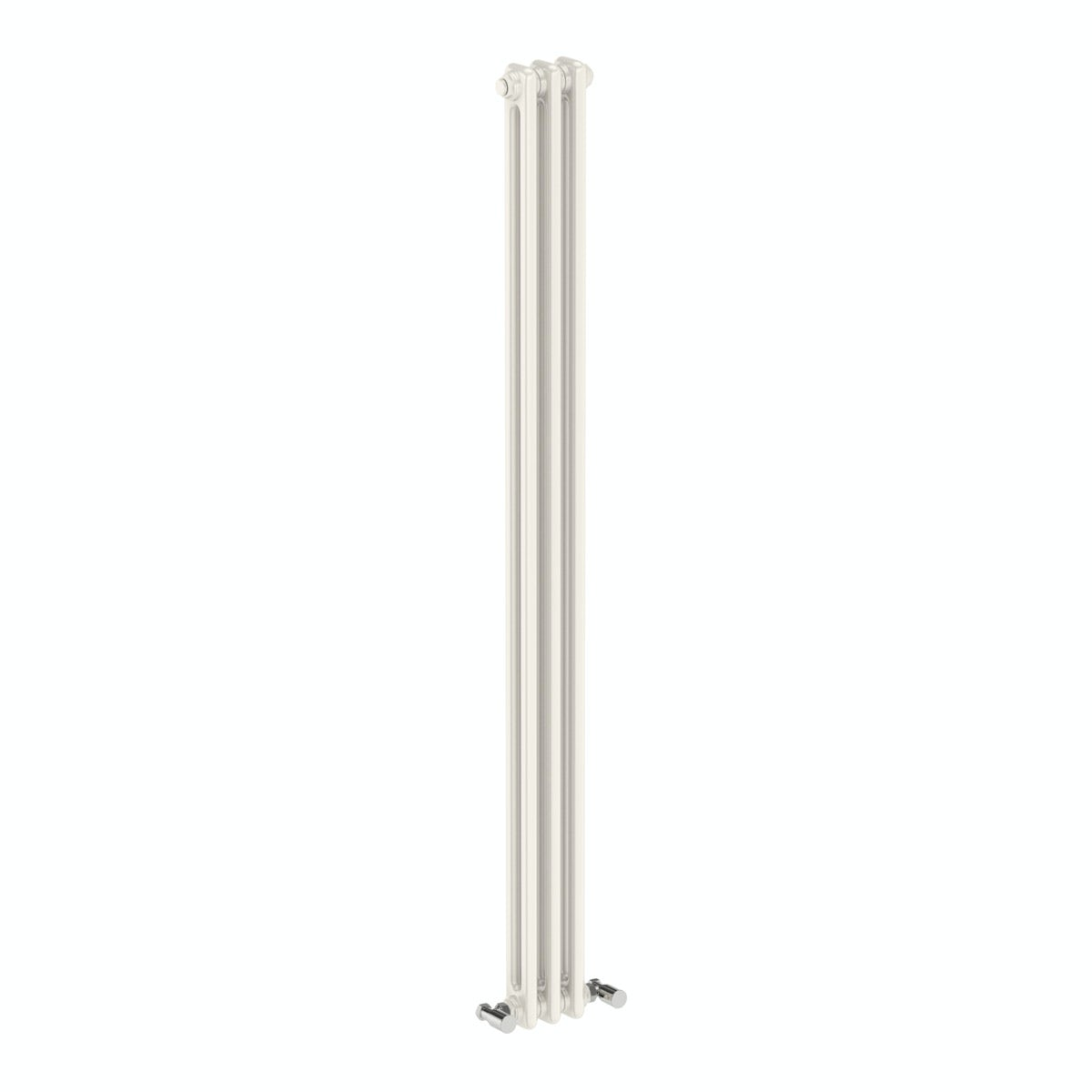 Dulwich vertical white double column radiator 1500 x 155