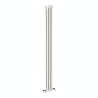 The Bath Co. Dulwich vertical white double column radiator 1500 x 155