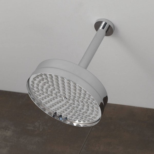 The Bath Co. Camberley shower head with round ceiling arm