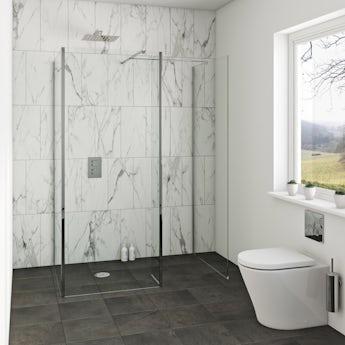 Mode luxury 8mm wet room 3 sided glass panel packs