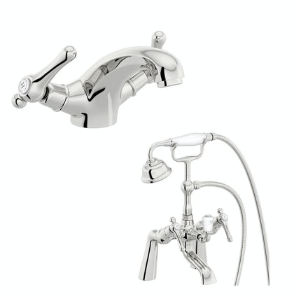 The Bath Co. Camberley lever basin and bath shower mixer tap pack