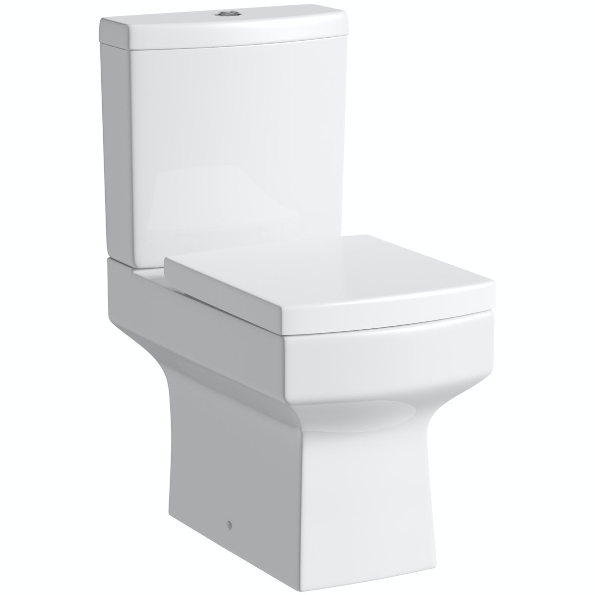 Orchard Wye close coupled toilet with soft close toilet seat with pan connector