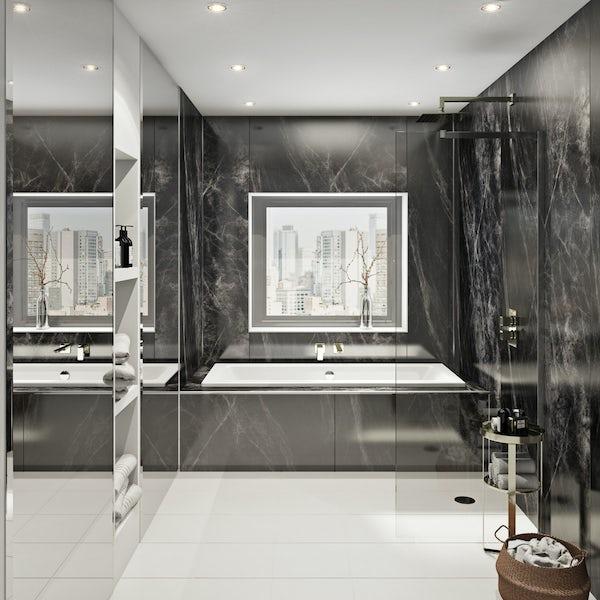 Multipanel Linda Barker Jet Noir unlipped shower wall panel 2400 x 1200