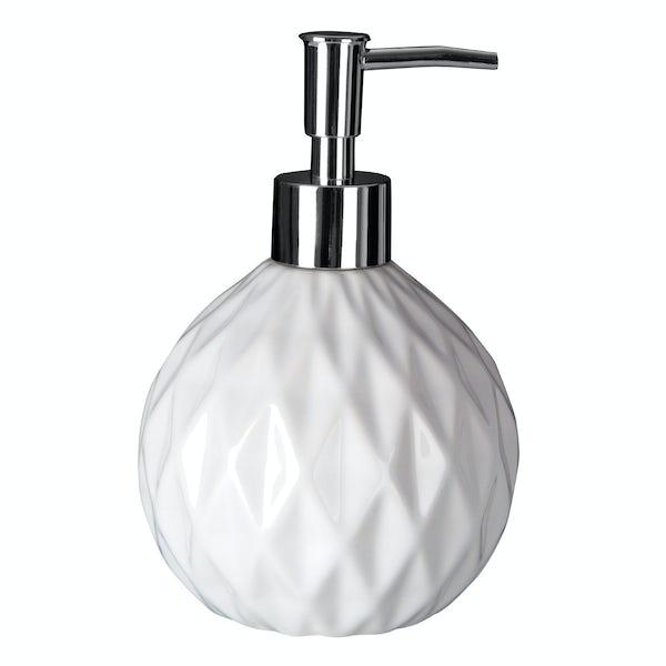 Geo white soap dispenser