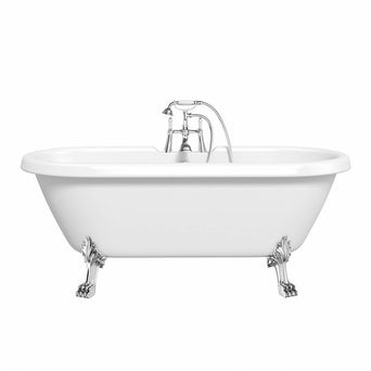 Shakespeare Roll Top Bath Large with Dragon Feet