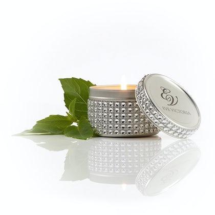 Eve Victoria Oud & bergamot diamante tin