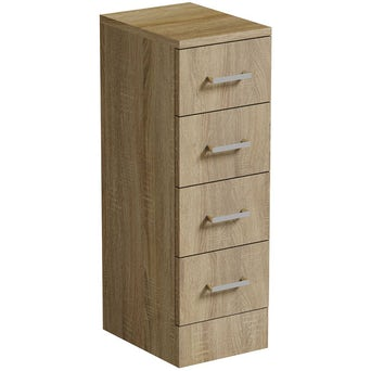 Sienna Oak Multi Drawer Unit 330 Special Offer