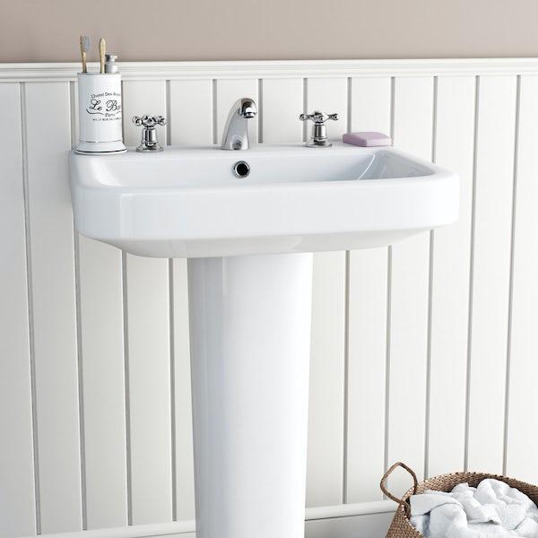 The Bath Co. Camberley 3 hole basin mixer tap
