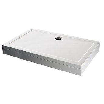 Rectangular Stone Shower Tray & Riser Kit 1200 x 760