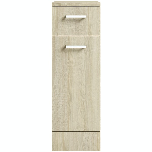 Eden oak multi drawer unit 330mm