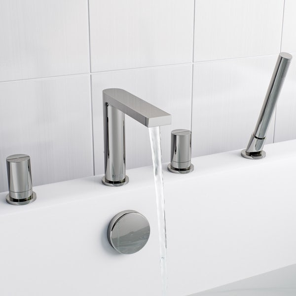 Mode Heath 4 hole bath shower mixer tap offer pack