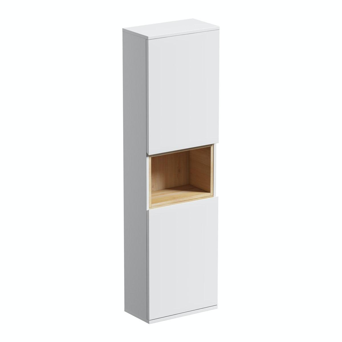 Mode Tate white & oak wall cabinet