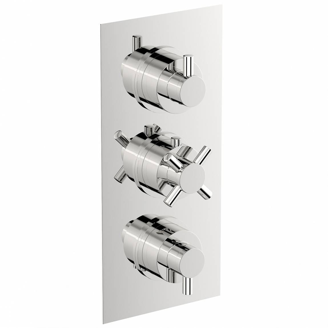 Mode Alexa square triple thermostatic shower valve with diverter