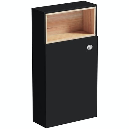 Tate anthracite & oak back to wall toilet unit