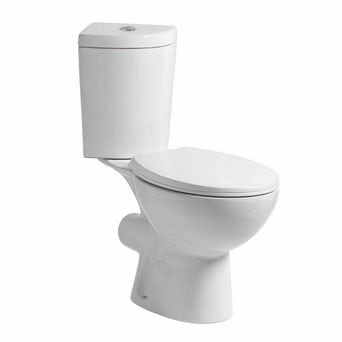 Palm Corner Close Coupled Toilet inc Soft Close Seat