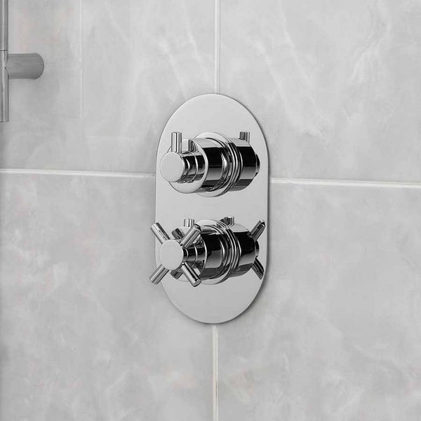 Alexa Oval Twin Valve with Diverter