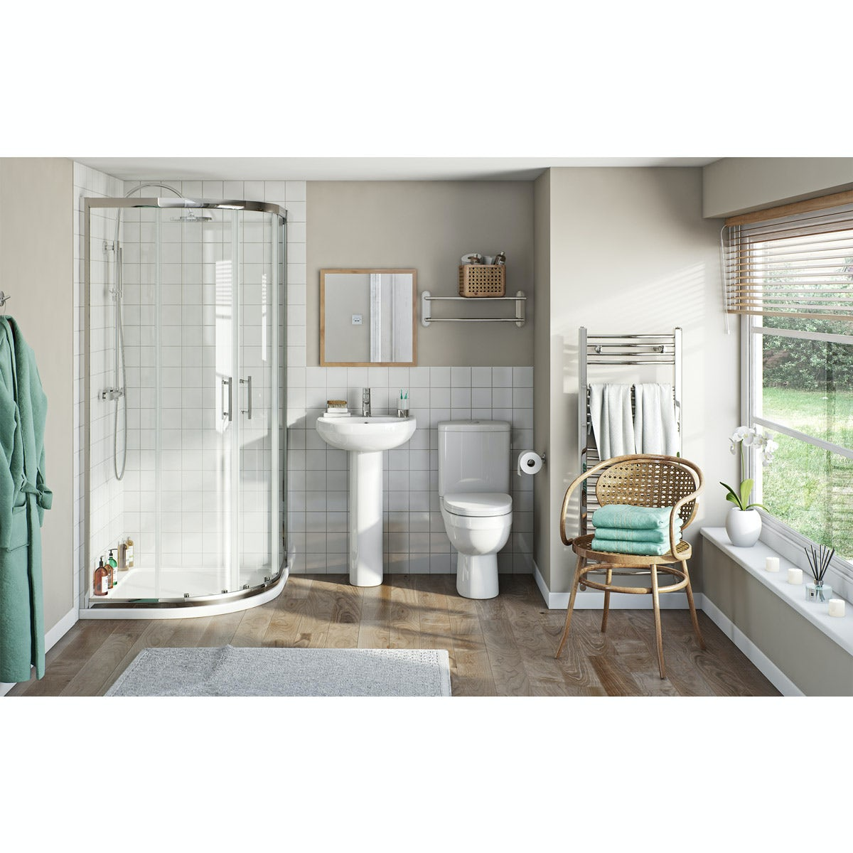 Orchard Eden ensuite with quadrant enclosure and tray