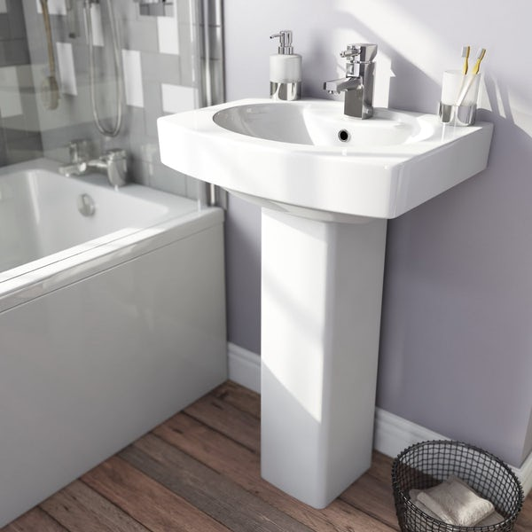 Wye Toilet and Basin Suite