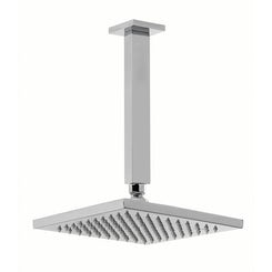 Square shower head 200mm with ceiling arm