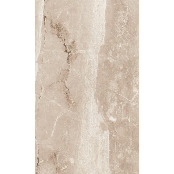 British Ceramic Tile Earth marble effect toffee matt tile 298mm x 498mm