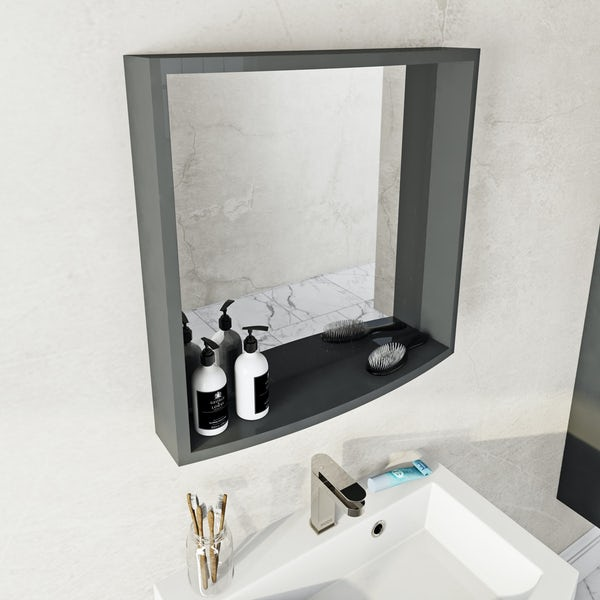 Mode Harrison slate furniture package with wall hung vanity unit 600mm