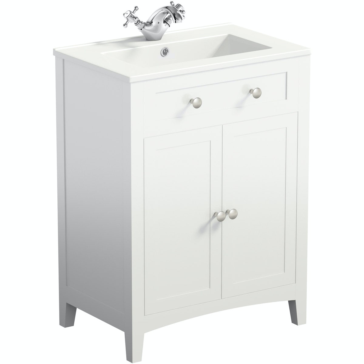 The Bath Co. Camberley white vanity unit with basin 600mm