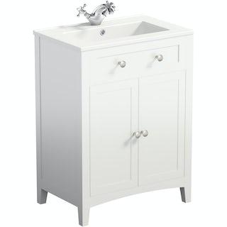 Camberley White 600 Door Unit & Basin