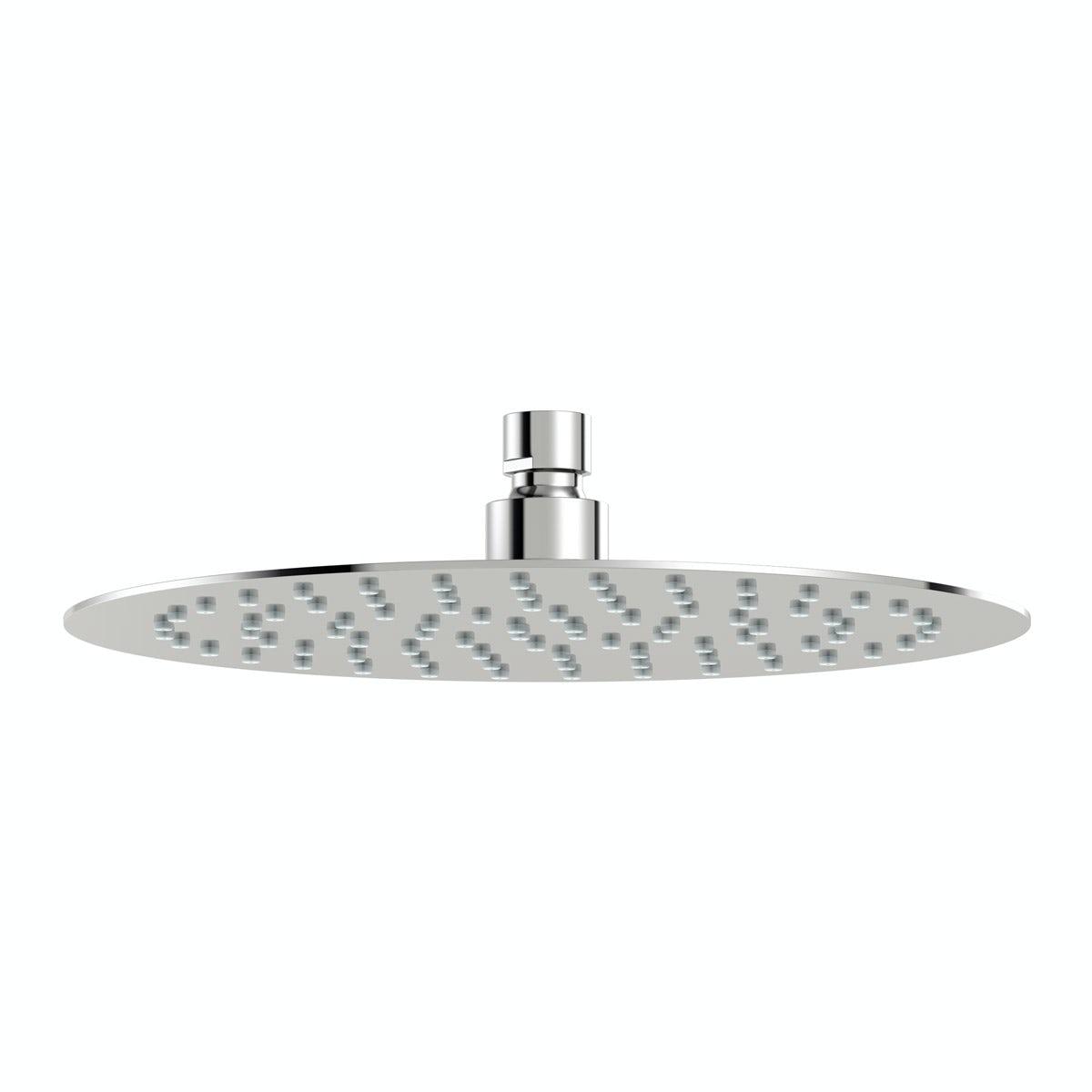 Mode Renzo round slim stainless steel shower head 250mm
