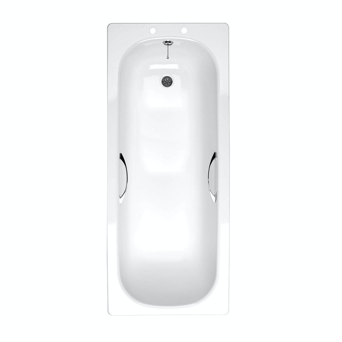 Clarity Steel bath with handle grips 1700 x 700