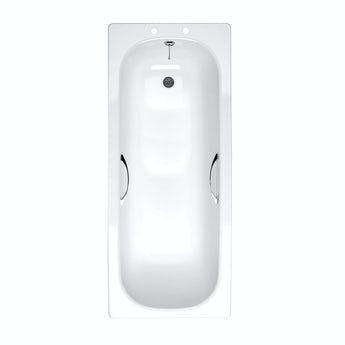 Orchard Steel bath with handle grips 1700 x 700