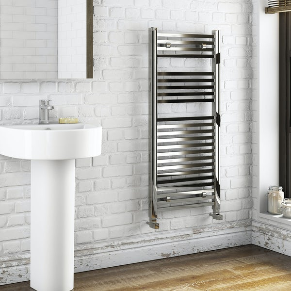 Wye Heated Towel Rail 1200 x 490