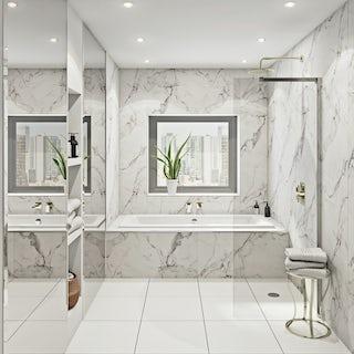 Multipanel Linda Barker Calcatta Marble Hydrolock shower wall panel