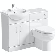 Eden white 1040 combination with Eden back to wall toilet