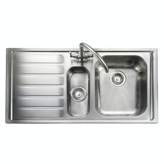 Rangemaster Manhattan 1 bowl left handed kitchen sink with waste kit