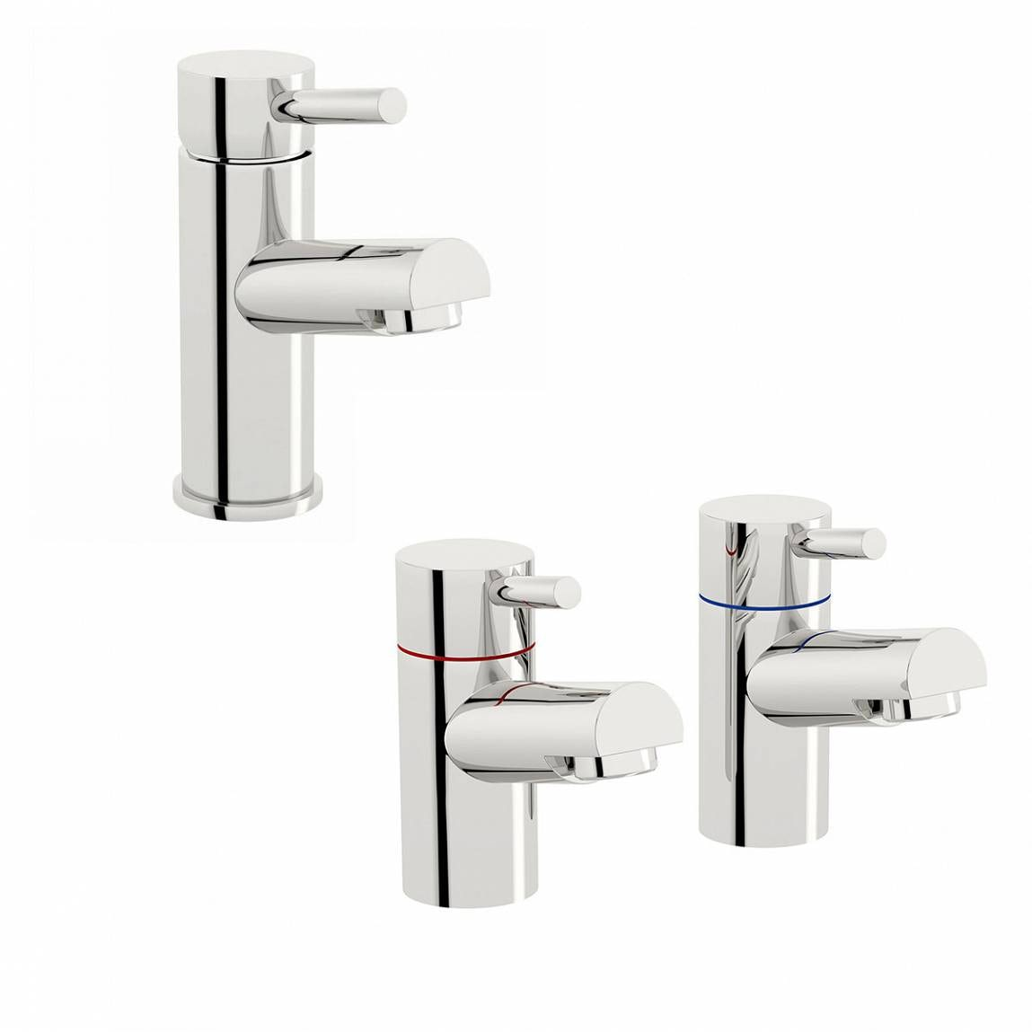 Orchard Wharfe basin mixer and bath tap pack