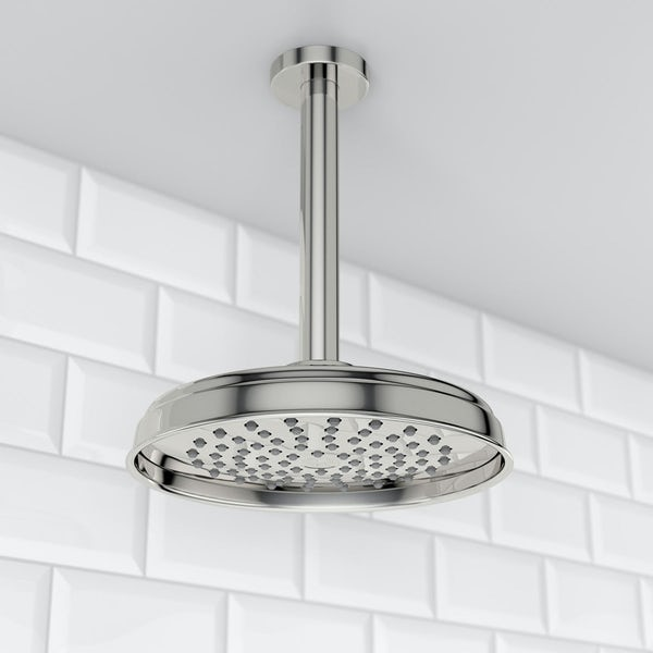 """Traditional 8"""" Rain Can & Ceiling Arm"""