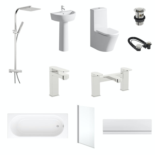 Mode Tate straight 1700 x 750 complete bathroom package